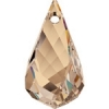 Swarovski Drop 6020 Helix 37mm Golden Shadow Crystal